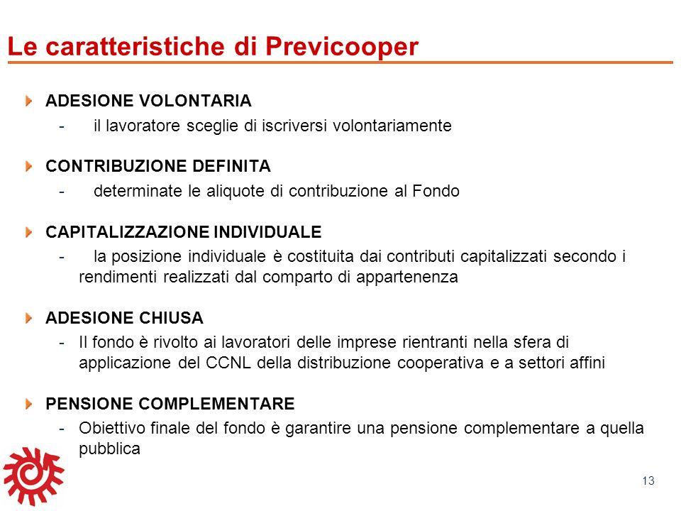 www.mefop.it 13 Le caratteristiche di Previcooper ADESIONE VOLONTARIA -il lavoratore sceglie di iscriversi volontariamente CONTRIBUZIONE DEFINITA -det
