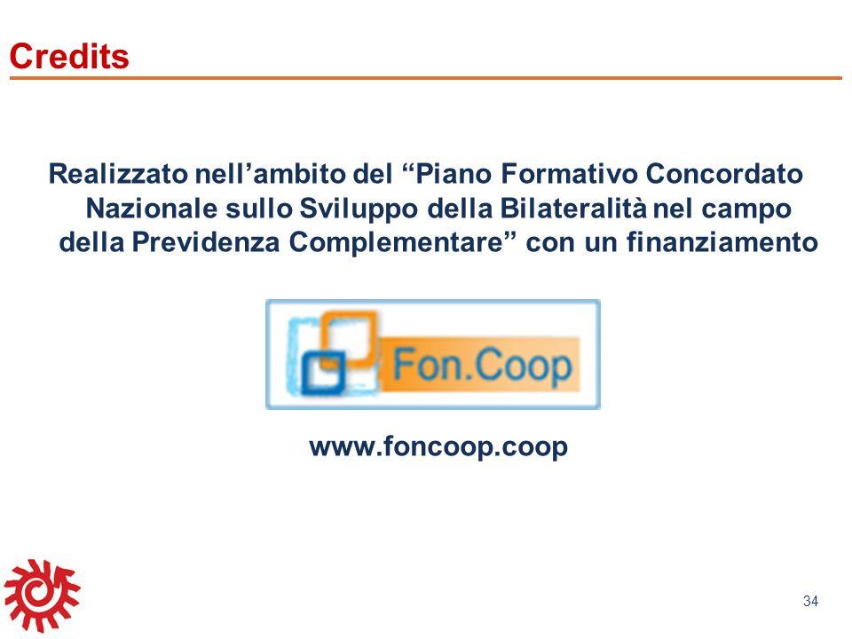 www.mefop.it 34 Credits Realizzato nellambito del Piano Formativo Concordato Nazionale sullo Sviluppo della Bilateralità nel campo della Previdenza Co