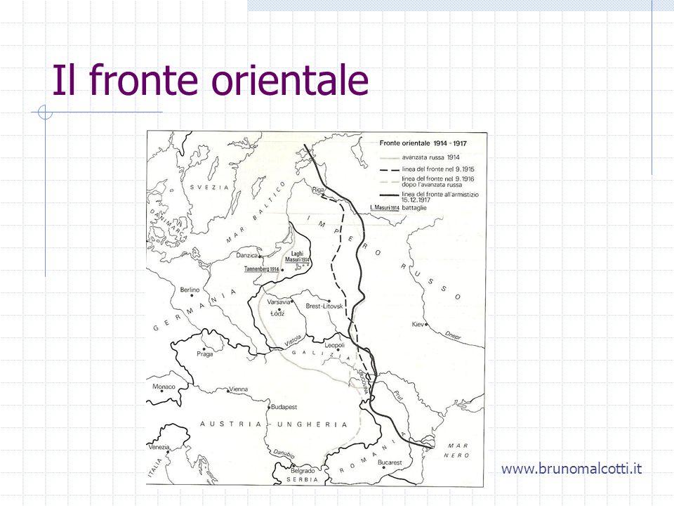 Il fronte orientale www.brunomalcotti.it