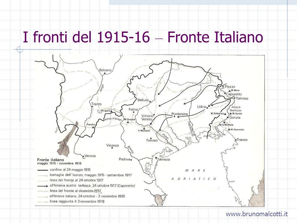 I fronti del 1915-16 – Fronte Italiano www.brunomalcotti.it