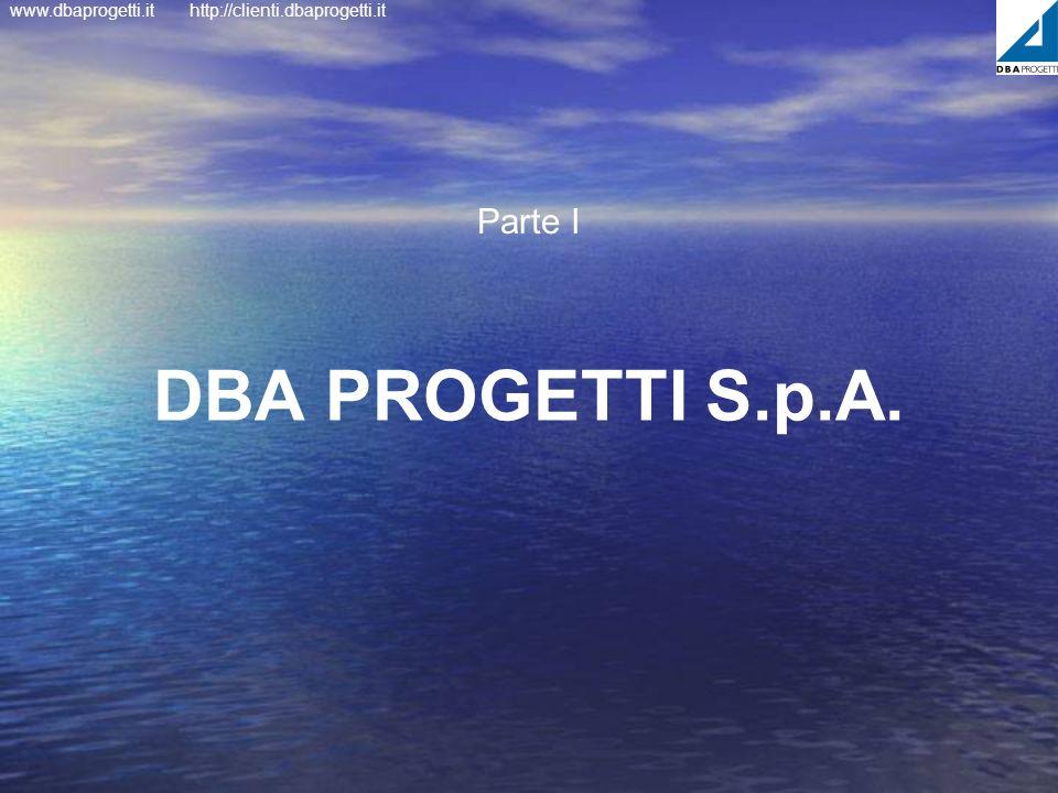 www.dbaprogetti.ithttp://clienti.dbaprogetti.it DBA PROGETTI S.p.A. Parte I