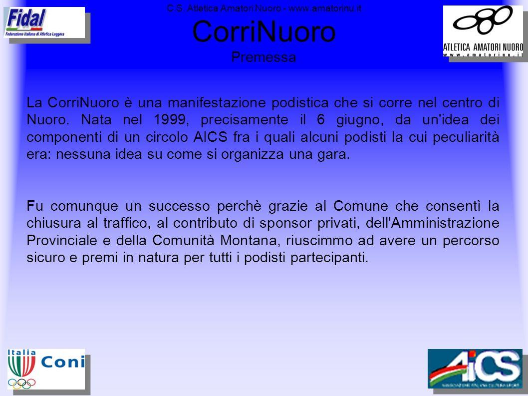 C.S. Atletica Amatori Nuoro - www.amatorinu.it CorriNuoro Immagini 2005 – Partenza