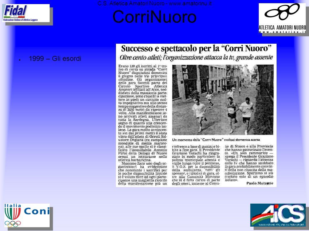 C.S. Atletica Amatori Nuoro - www.amatorinu.it CorriNuoro 1999 – Gli esordi
