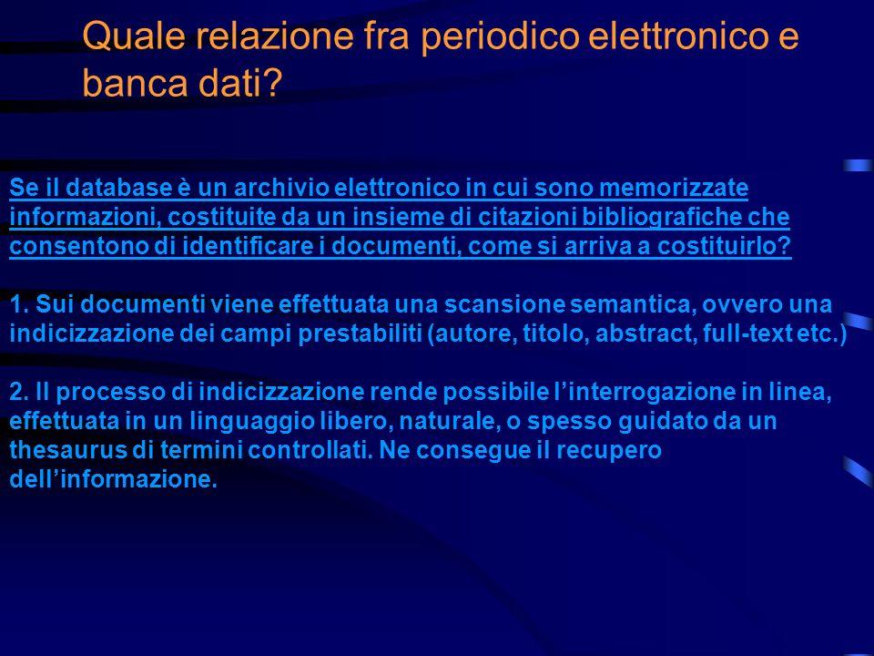Interpretiamo una citazione bibliografica Burioni, Luca. Linformazione elettronica fra utenti e mercato,Bollettino AIB, 39 (1999), n. 1/2, pp. 103-109