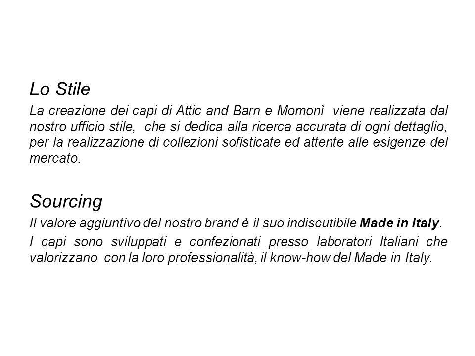 Lo Stile La creazione dei capi di Attic and Barn e Momonì viene realizzata dal nostro ufficio stile, che si dedica alla ricerca accurata di ogni detta