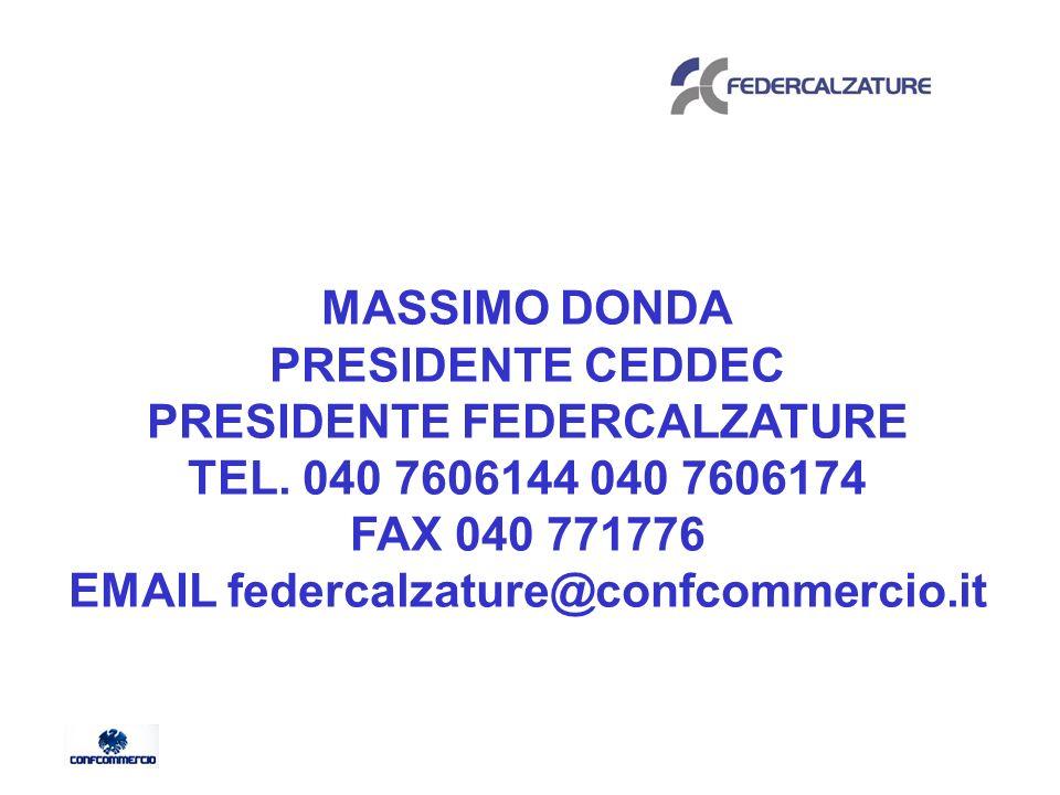 MASSIMO DONDA PRESIDENTE CEDDEC PRESIDENTE FEDERCALZATURE TEL.