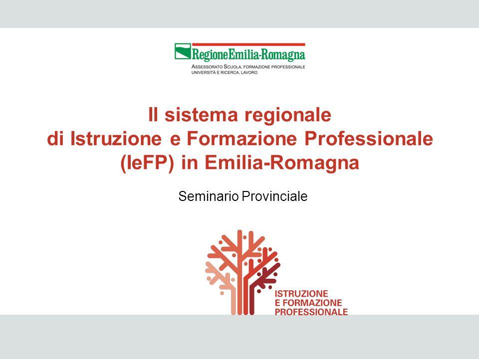 2 Seminario Provinciale Il sistema regionale di Istruzione e Formazione Professionale (IeFP) in Emilia-Romagna