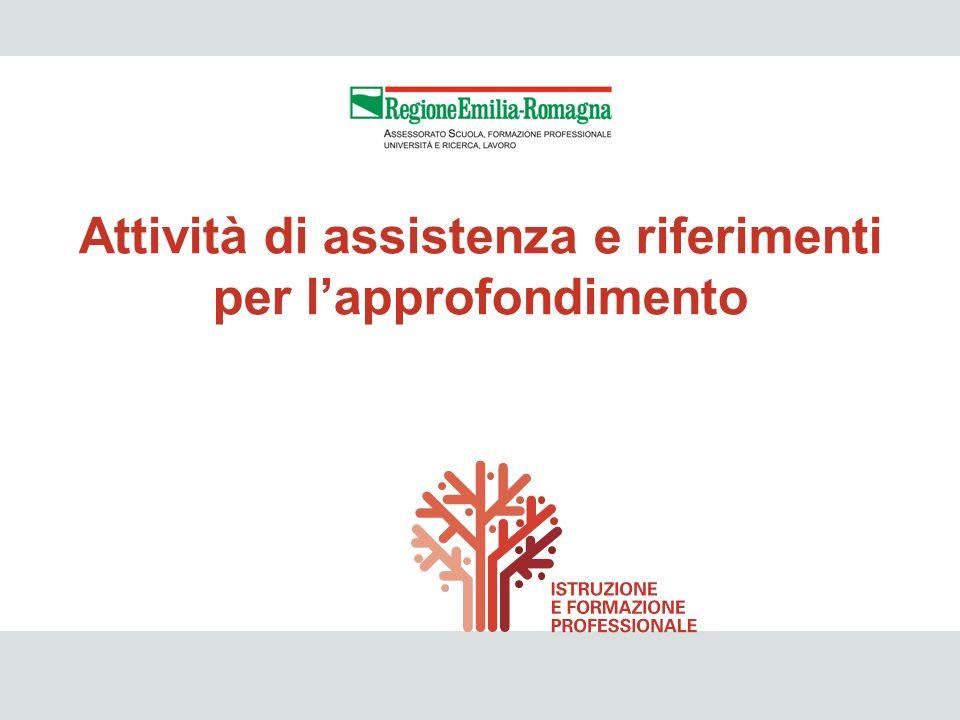 IeFP 50 Attività di assistenza e riferimenti per lapprofondimento