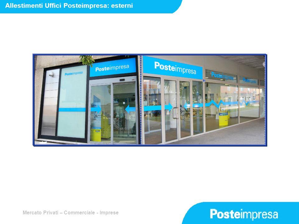 Mercato Privati – Commerciale - Imprese Allestimenti Uffici Posteimpresa: esterni