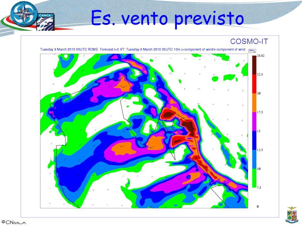 Es. vento previsto COSMO-IT