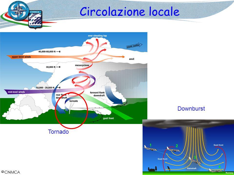 Circolazione locale Tornado Downburst