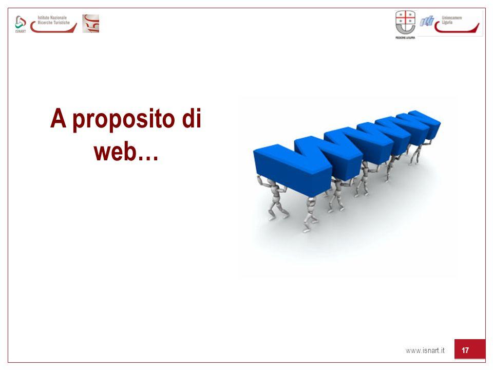 www.isnart.it 17 A proposito di web…
