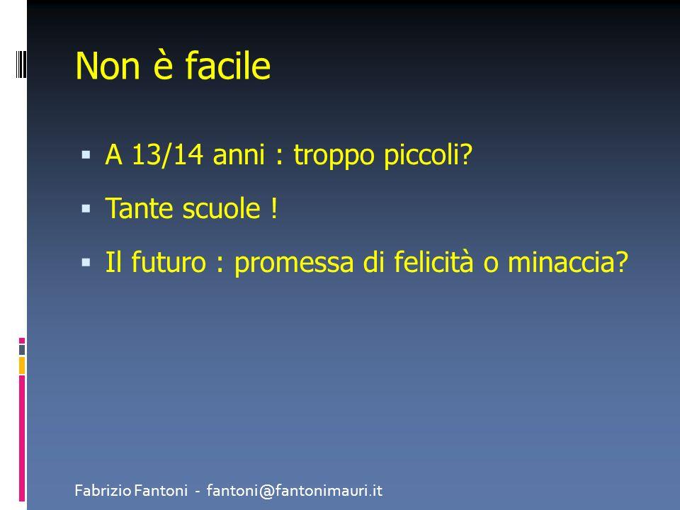 Per essere LIBERA Non solo non deve essere imposta ma nemmeno dettata da paure o motivazioni fragili Fabrizio Fantoni - fantoni@fantonimauri.it