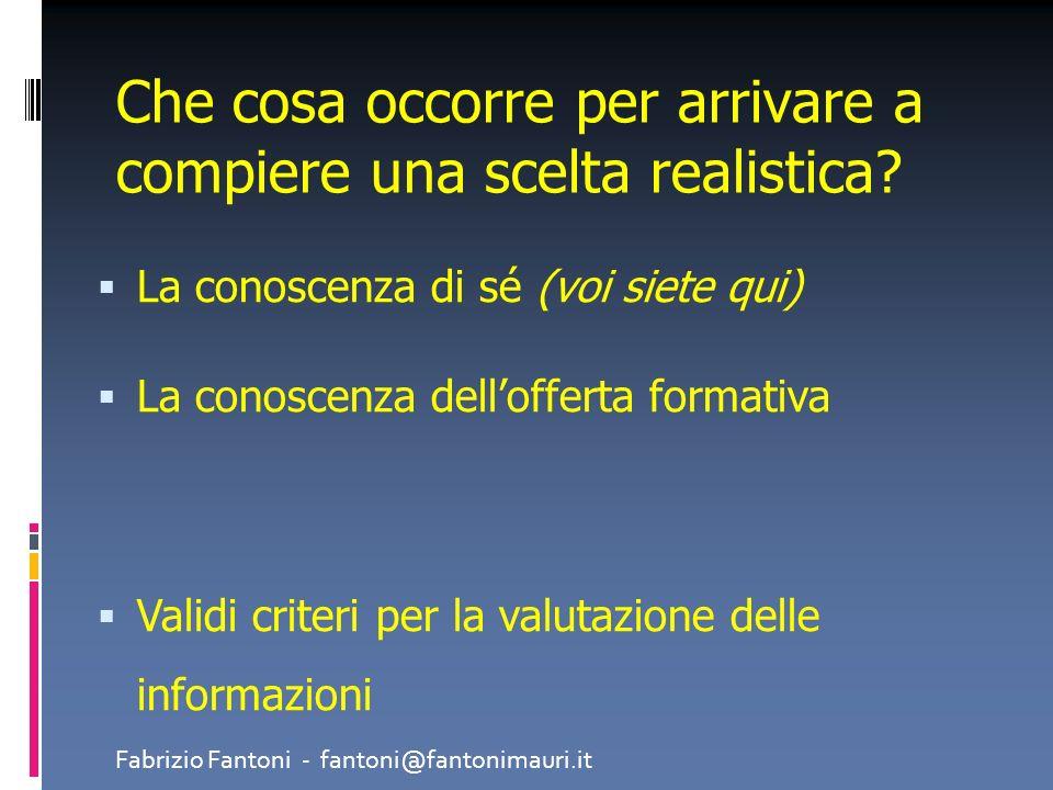 Vado in quella scuola perché cè poca matematica Fabrizio Fantoni - fantoni@fantonimauri.it