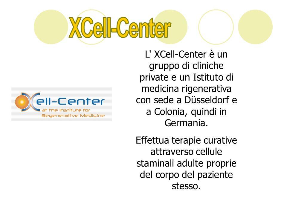 L' XCell-Center è un gruppo di cliniche private e un Istituto di medicina rigenerativa con sede a Düsseldorf e a Colonia, quindi in Germania. Effettua