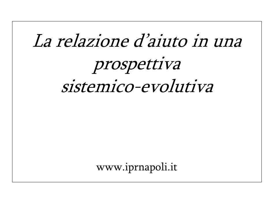 La relazione daiuto in una prospettiva sistemico-evolutiva www.iprnapoli.it