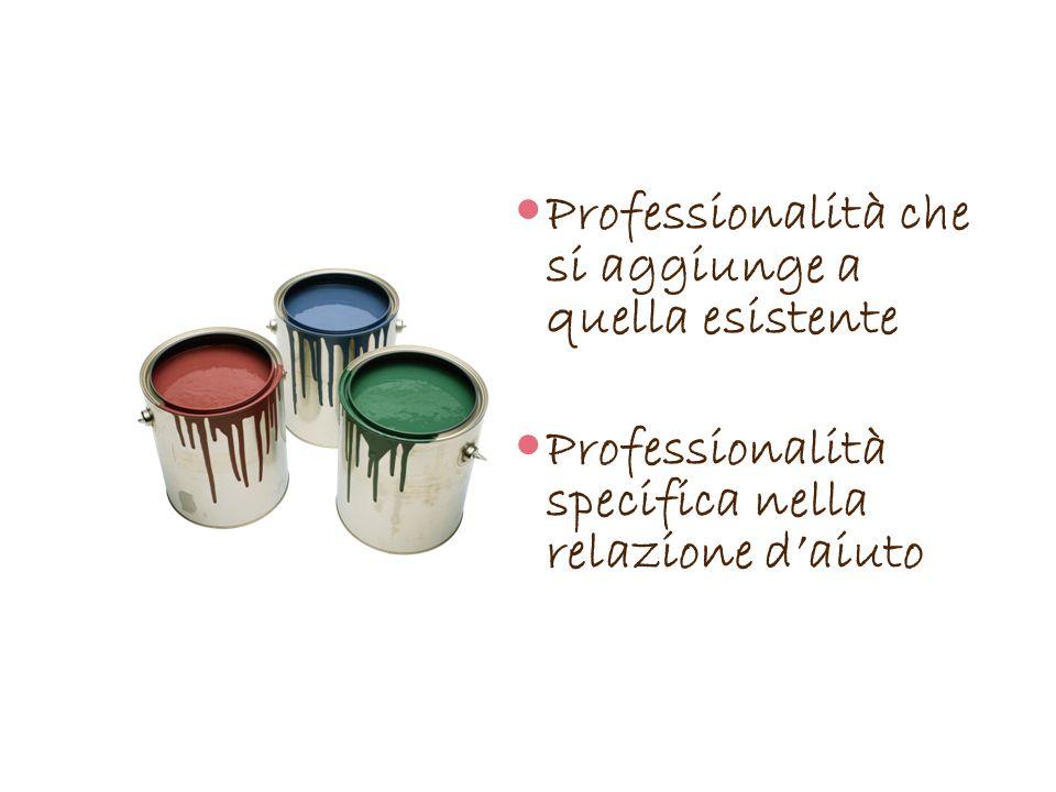 Professionalità che si aggiunge a quella esistente Professionalità specifica nella relazione daiuto