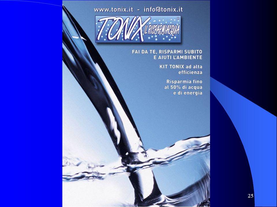 Progetto risparmio idrico TONIX http://www.tonix.it 25