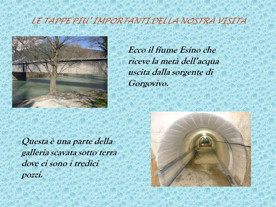 LE TAPPE PIU IMPORTANTI DELLA NOSTRA VISITA Ecco il fiume Esino che riceve la metà dellacqua uscita dalla sorgente di Gorgovivo.