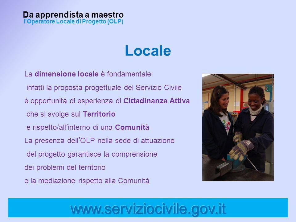 La dimensione locale è fondamentale: infatti la proposta progettuale del Servizio Civile è opportunità di esperienza di Cittadinanza Attiva che si svo