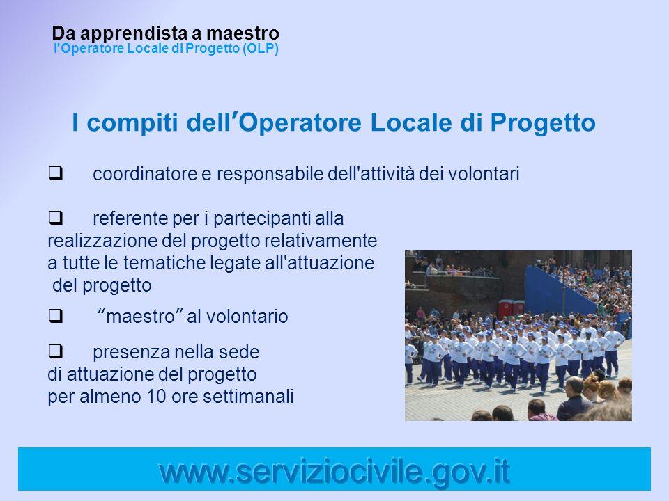 I compiti dellOperatore Locale di Progetto coordinatore e responsabile dell'attività dei volontari referente per i partecipanti alla realizzazione del