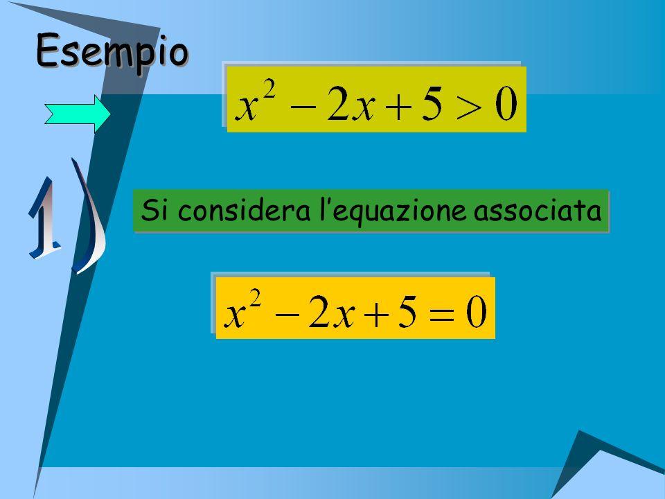 Si considera lequazione associata Si considera lequazione associata Esempio