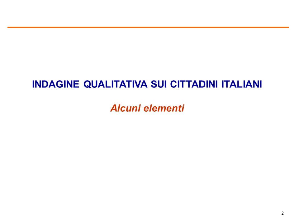 1 Confronto risultati Italiani e immigrati Indagine nazionale Indagine qualitativa IL DISEGNO DELLA RICERCA 4 focus group (Roma, MI, VR, PO) Indagine