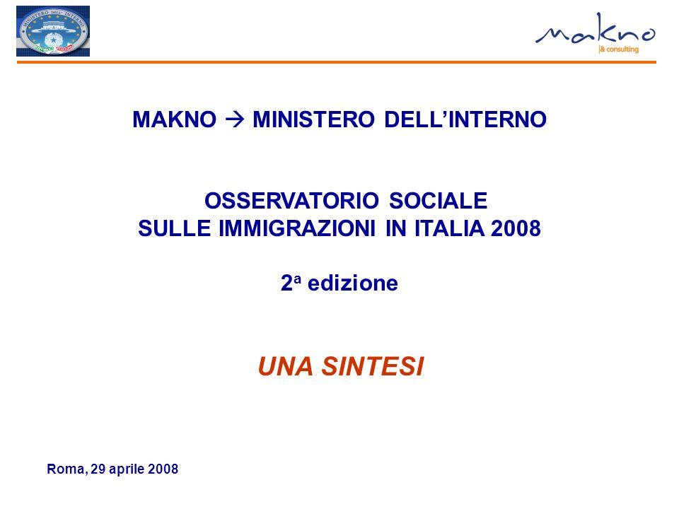 65 OBIETTIVO CHE DOVREBBE PORSI IL GOVERNO ITALIANO NEI CONFRONTI DEGLI IMMIGRATI (%)