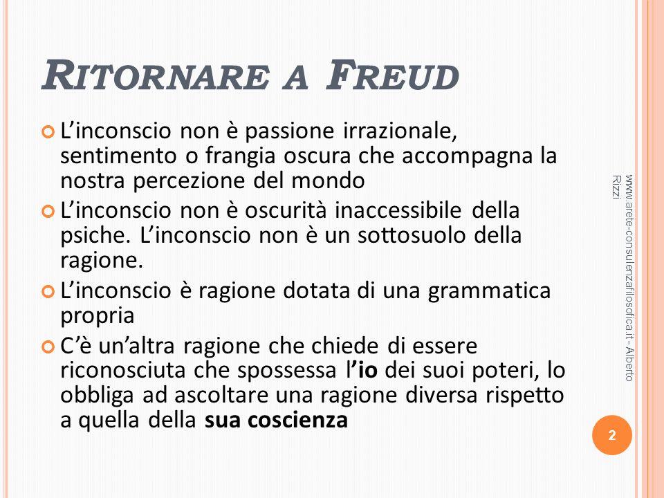 O LTRE IL ROMANTICISMO Linconscio di Freud non è il sentimento che travalica langustia della ragioni.