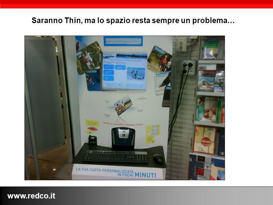www.redco.it Saranno Thin, ma lo spazio resta sempre un problema…