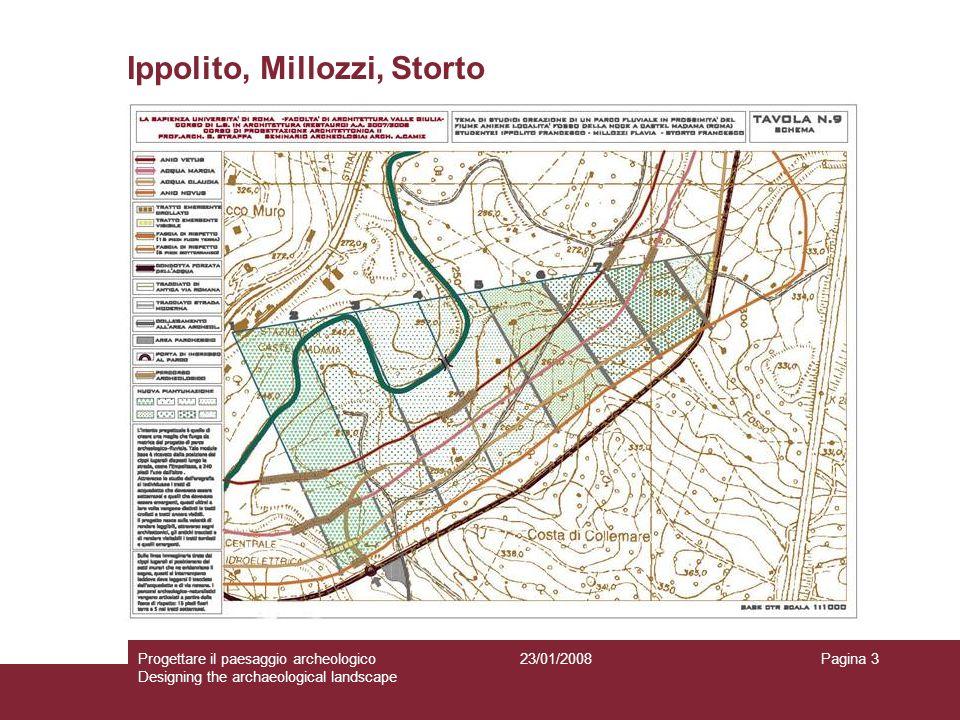 23/01/2008Progettare il paesaggio archeologico Designing the archaeological landscape Pagina 3 Ippolito, Millozzi, Storto