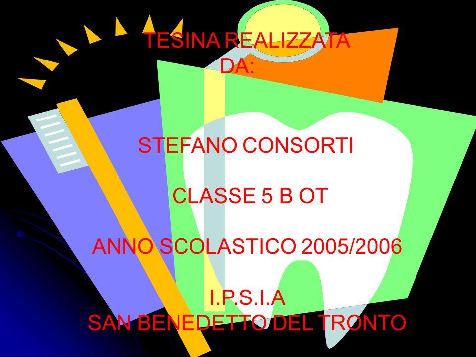 TESINA REALIZZATA DA: STEFANO CONSORTI CLASSE 5 B OT ANNO SCOLASTICO 2005/2006 I.P.S.I.A SAN BENEDETTO DEL TRONTO