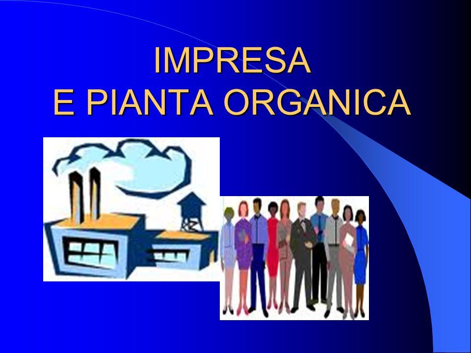 IMPRESA E PIANTA ORGANICA