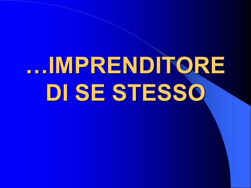 …IMPRENDITORE DI SE STESSO