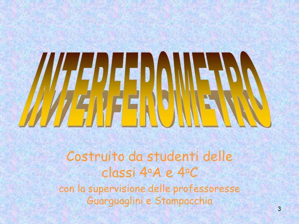 3 Costruito da studenti delle classi 4 a A e 4 a C con la supervisione delle professoresse Guarguaglini e Stampacchia
