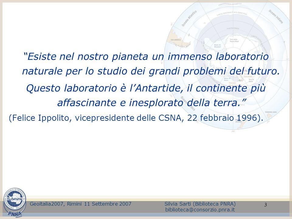 3 Esiste nel nostro pianeta un immenso laboratorio naturale per lo studio dei grandi problemi del futuro. Questo laboratorio è lAntartide, il continen