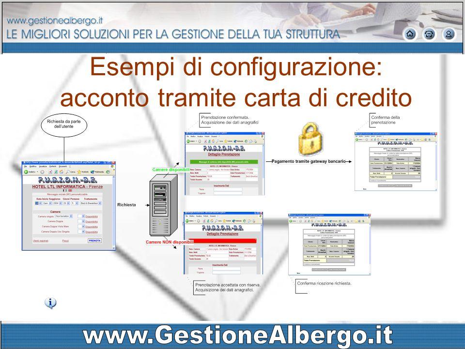 Esempi di configurazione: acconto tramite carta di credito