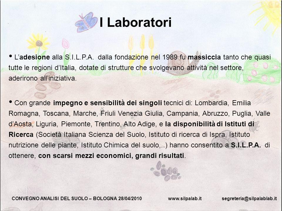 I Laboratori CONVEGNO ANALISI DEL SUOLO – BOLOGNA 28/04/2010 www.silpalab.it segreteria@silpalablab.it