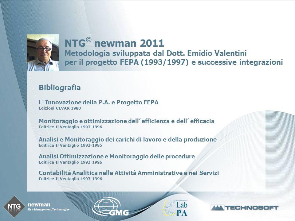 Page 3 NTG © newman 2011 Metodologia sviluppata dal Dott.