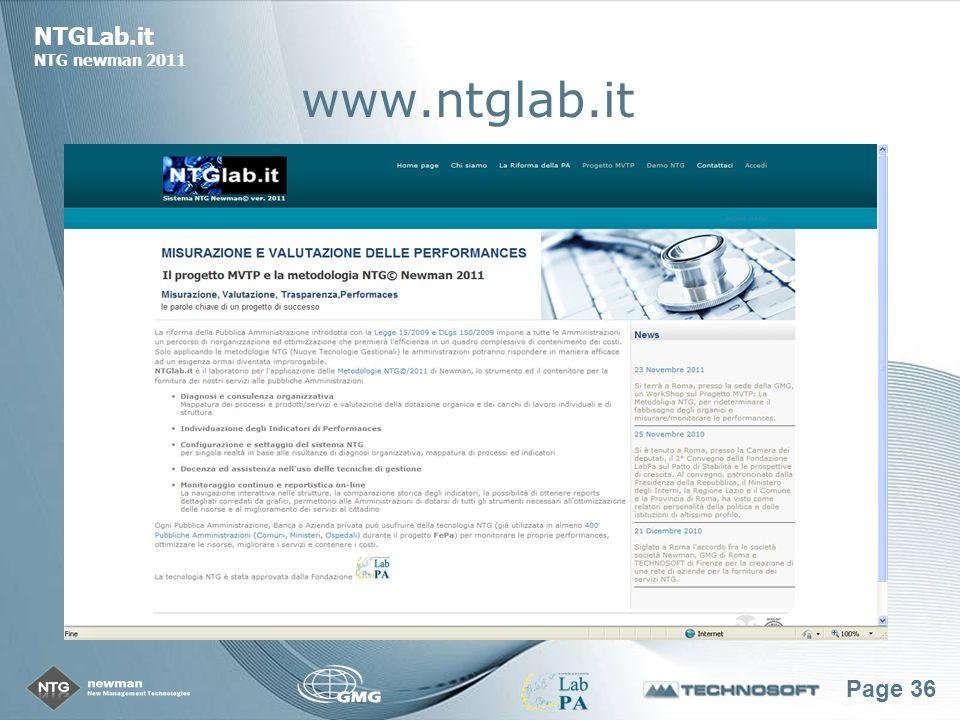 Page 36 NTGLab.it NTG newman 2011 www.ntglab.it