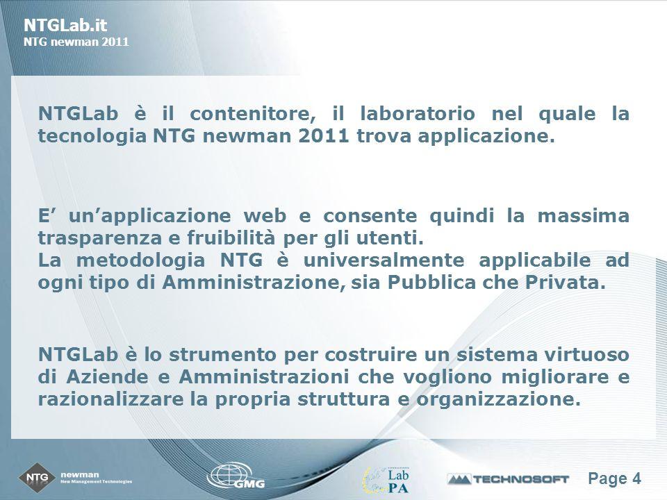 Page 25 NTGLab.it NTG newman 2011 Produttività del lavoro Produttività per settore e dettaglio per attività E possibile, ad ogni livello, ottenere gli indicatori di produttività di un periodo e analizzare in dettaglio le attività svolte e la produttività ottenuta per ciascuna.