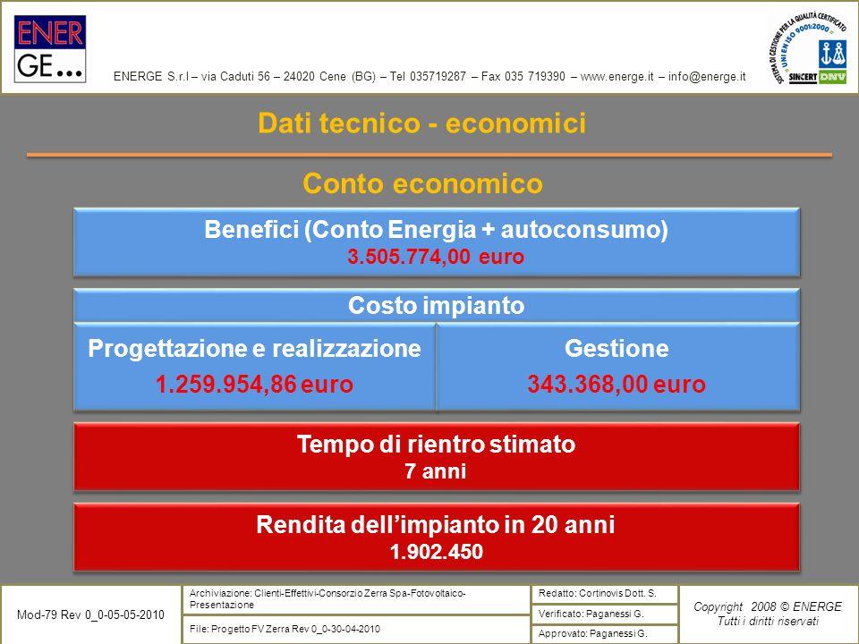 ENERGE S.r.l – via Caduti 56 – 24020 Cene (BG) – Tel 035719287 – Fax 035 719390 – www.energe.it – info@energe.it Verificato: Paganessi G. Copyright 20