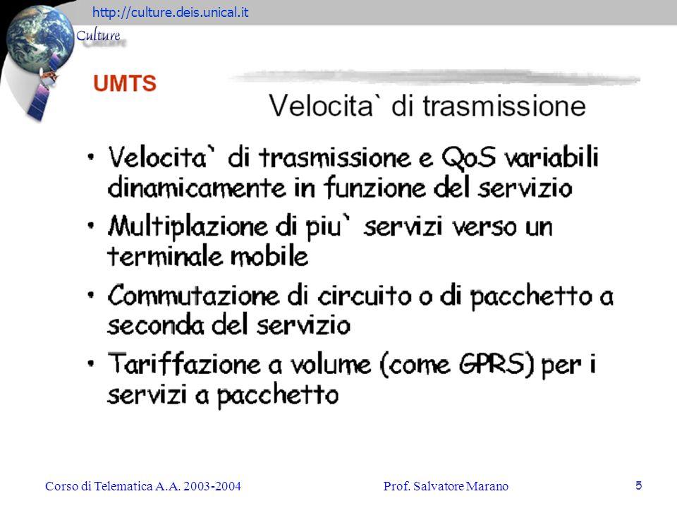 http://culture.deis.unical.it Corso di Telematica A.A. 2003-2004Prof. Salvatore Marano 6
