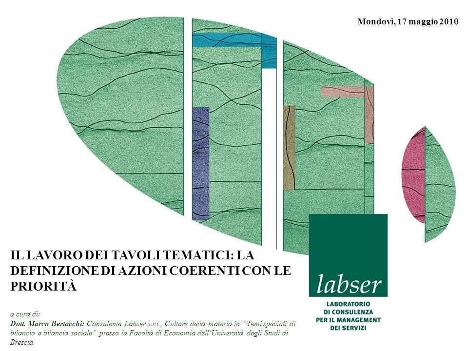 www.labser.it m.bertocchi@labser.it Labser S.r.l. 1 Mondovì, 17 maggio 2010 IL LAVORO DEI TAVOLI TEMATICI: LA DEFINIZIONE DI AZIONI COERENTI CON LE PR
