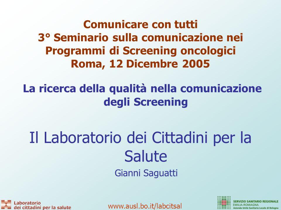 www.ausl.bo.it/labcitsal 2.