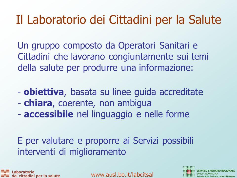 www.ausl.bo.it/labcitsal Cosa sperimenta.