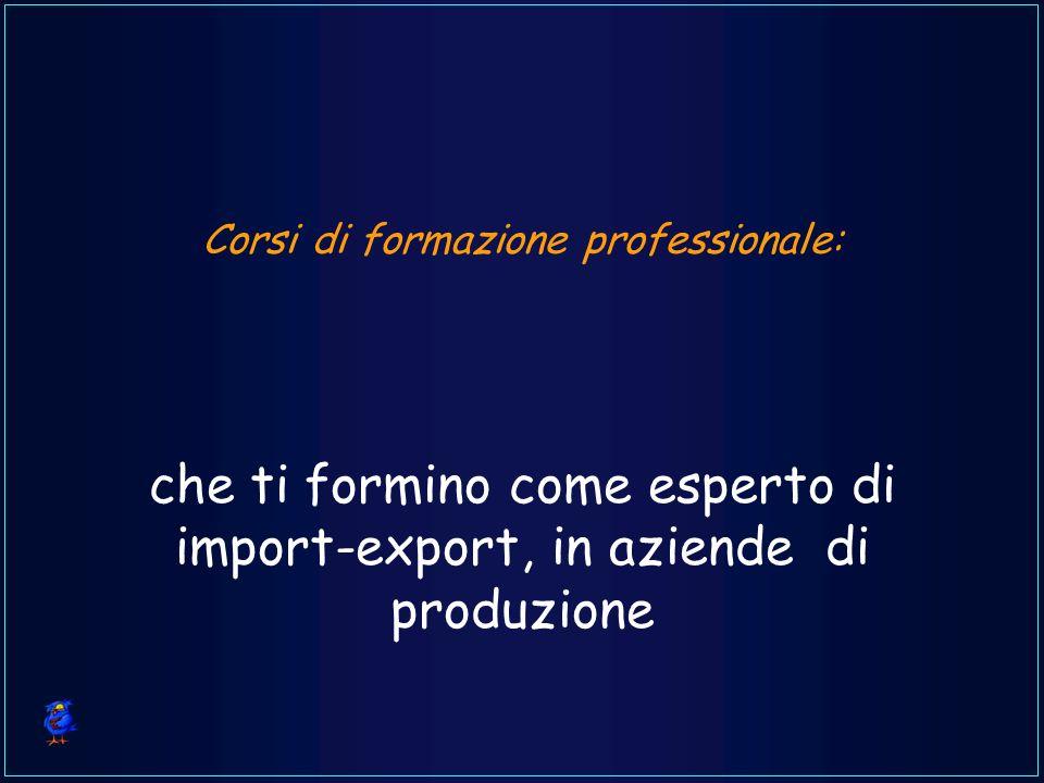 Corsi di formazione professionale: che ti formino come esperto di import-export, in aziende di produzione