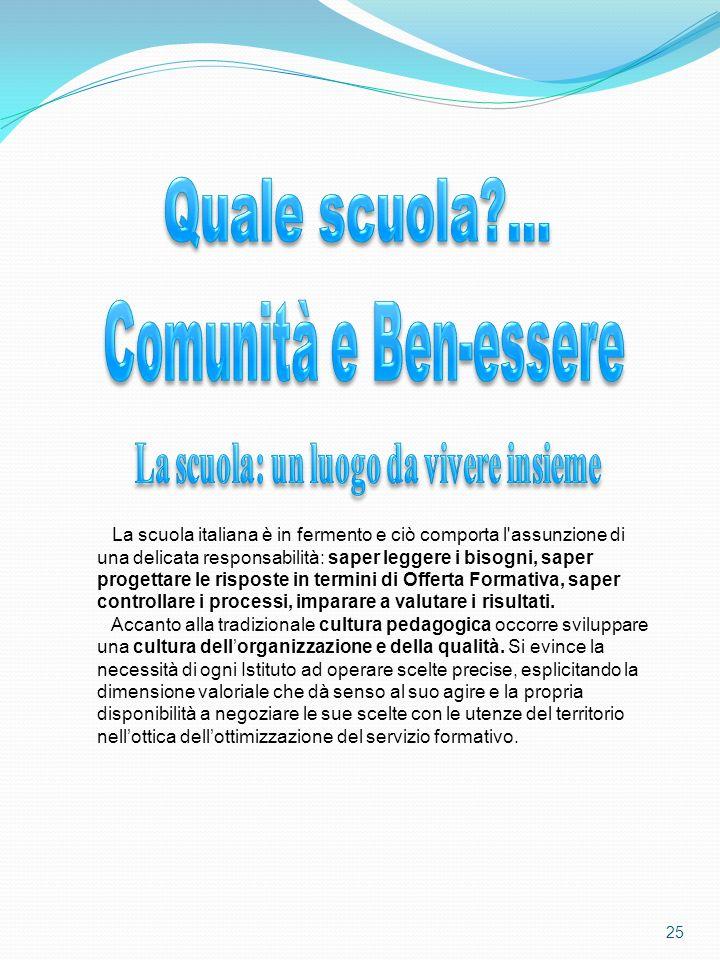La scuola italiana è in fermento e ciò comporta l'assunzione di una delicata responsabilità: saper leggere i bisogni, saper progettare le risposte in