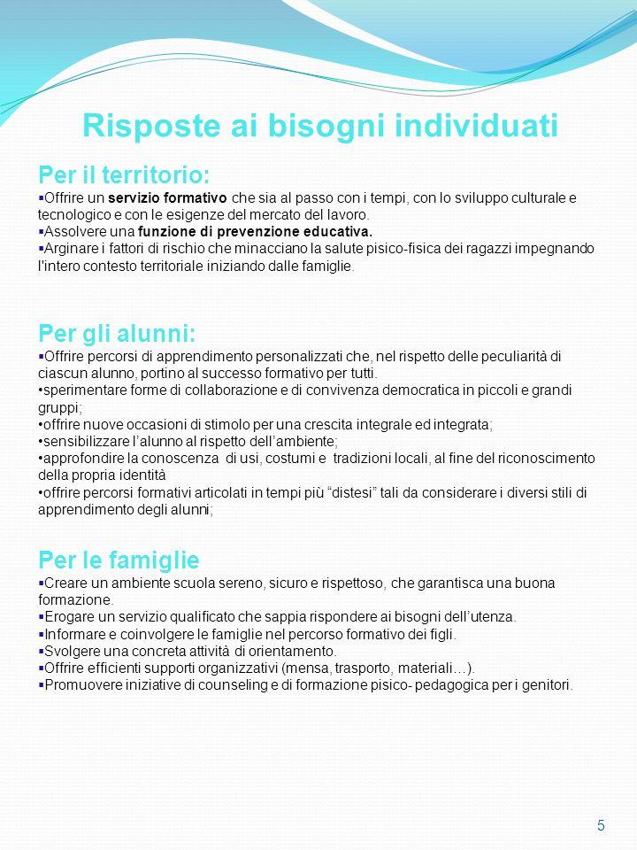 66 La consapevolezza che la scuola ha un ruolo strategico nella formazione del futuro cittadino europeo, responsabilizza sempre più le professionalità che si alternano nella crescita personale del bambino.