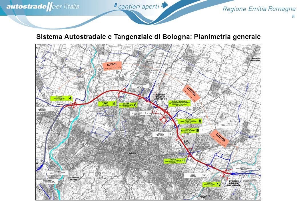 5 Sistema Autostradale e Tangenziale di Bologna: Planimetria generale